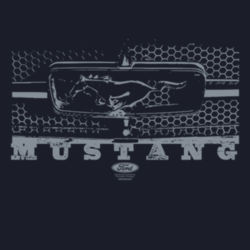 Mustang Grill - Ladies V-Neck T Design