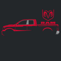 Red Ram - Adult Fan Favorite Hooded Sweatshirt Design