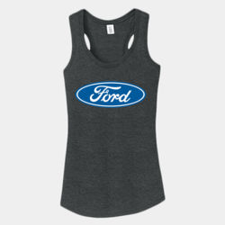 Ford Logo - Ladies Tri-Blend Racerback Tank Thumbnail