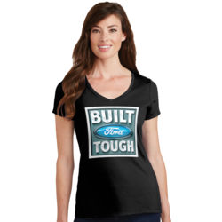 Built Ford Tough - Ladies V-Neck T Thumbnail