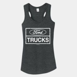 Ford Trucks - Ladies Tri-Blend Racerback Tank Thumbnail