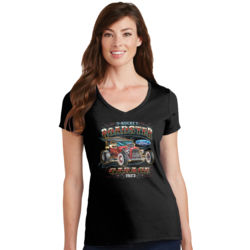 T-Bucket Roadster - Ladies V-Neck T Thumbnail