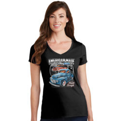 American Made - Ladies V-Neck T Thumbnail